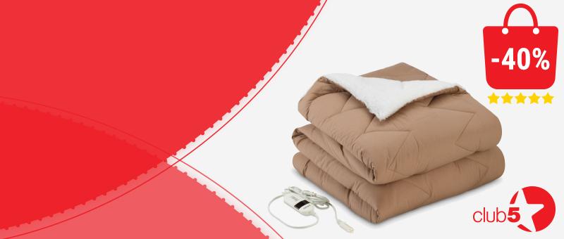 Электрическое одеяло с подогревом со СКИДКОЙ 40%!