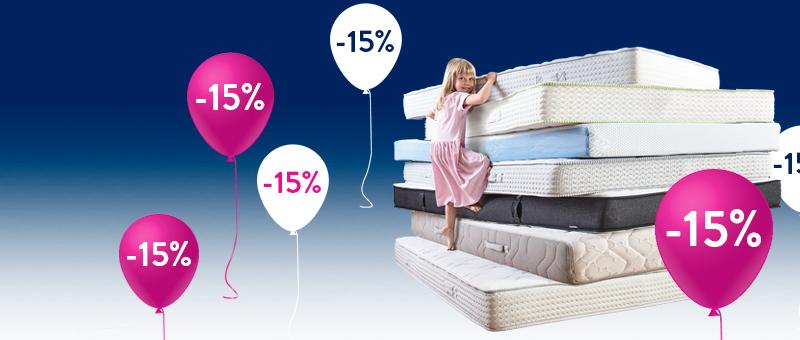СКИДКА -15% на все матрасы Dormeo!