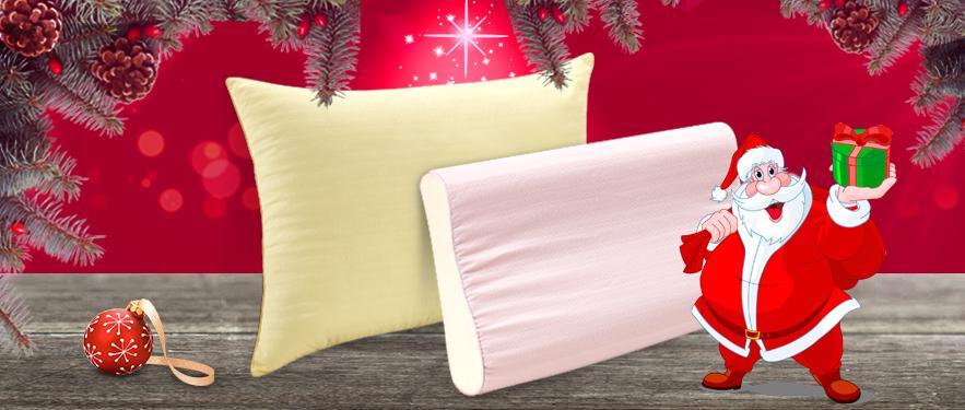 Акция дня от Деда Мороза - все подушки Dormeo 2 по цене 1!