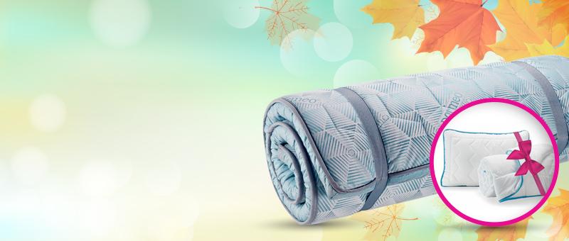 Акция - 3 по цене 1. Топпер + ПОДАРОК: одеяло и подушки